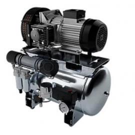 Compresseur SILENT 50L Bi cylindres air sec avec dessicateur